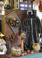Antiques and unique gifts at Walters Farm and Pumpkin Patch, Burns, Kansas.