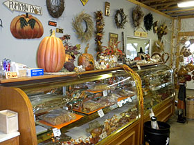 Great selection of bakery, candies, and other delicious food items at Walters Farm and Pumpkin Patch, Burns, Kansas.